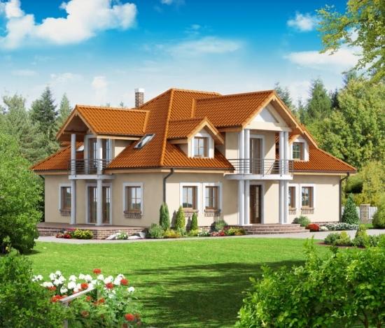 Proiect de casa rezidentiala cu 10 camere si 4 bai